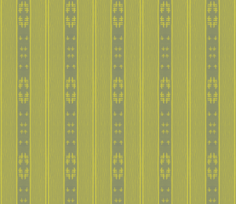 chopstix - yellow and gray fabric by materialsgirl on Spoonflower - custom fabric