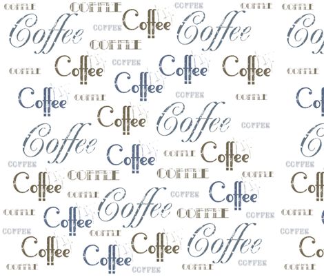 Coffee Words fabric by peacefuldreams on Spoonflower - custom fabric