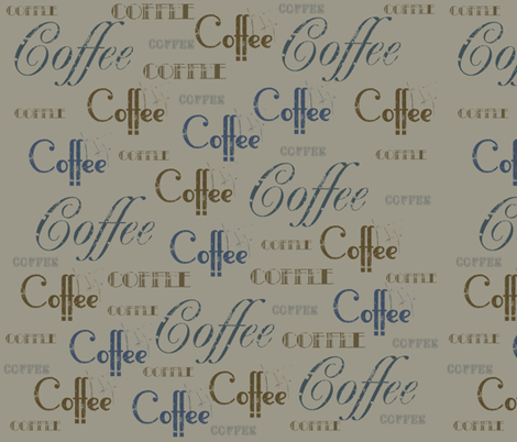 Coffee Vintage fabric by peacefuldreams on Spoonflower - custom fabric