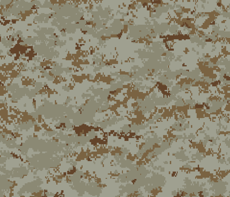 Marine MARPAT Digital Desert Camo fabric by ricraynor on Spoonflower - custom fabric