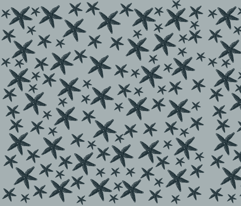 Vintage Starfish fabric by pencreations on Spoonflower - custom fabric