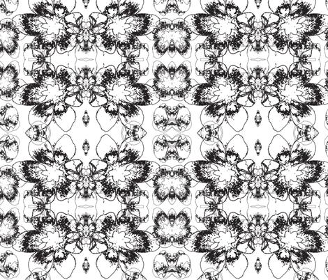 Anemone flower fabric by cutiecat on Spoonflower - custom fabric