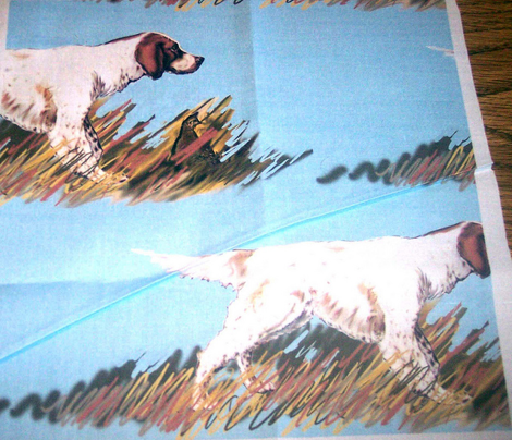 Setter Wiith Bird Fabric