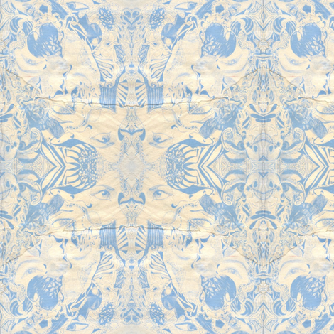 Blue Idyll fabric by katharina~michaela on Spoonflower - custom fabric