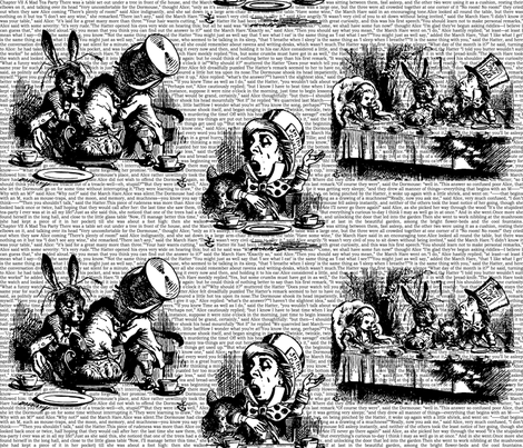 Vintage Alice Toile Half Size fabric by ophelia on Spoonflower - custom fabric