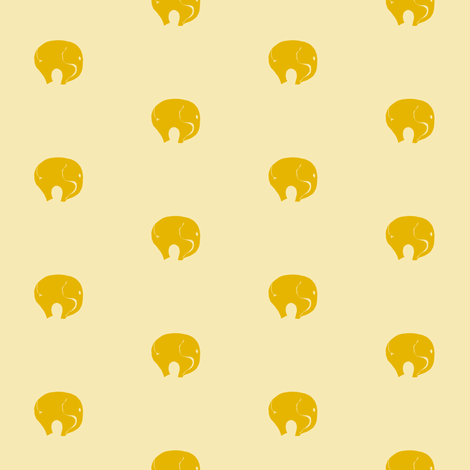 Gold Starr Elephants fabric by starrloy on Spoonflower - custom fabric