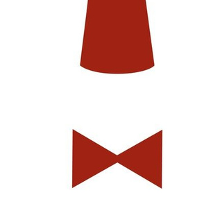 11 Fez with Red Bow Tie
