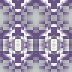 Plum Pixelated Geometric © Gingezel™ 2013