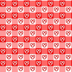 Bretzels vichy rouges