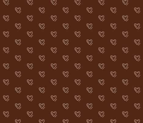 Chocolate Hearts fabric by theresa_grzecki on Spoonflower - custom fabric