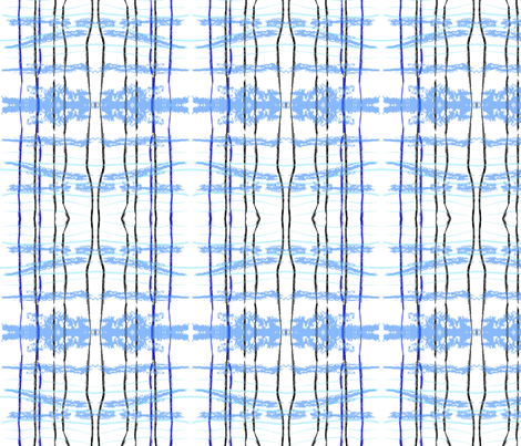 hidden blue fox ikat plaid fabric by laurl on Spoonflower - custom fabric