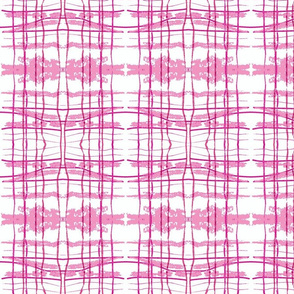 hidden pink fox ikat plaid