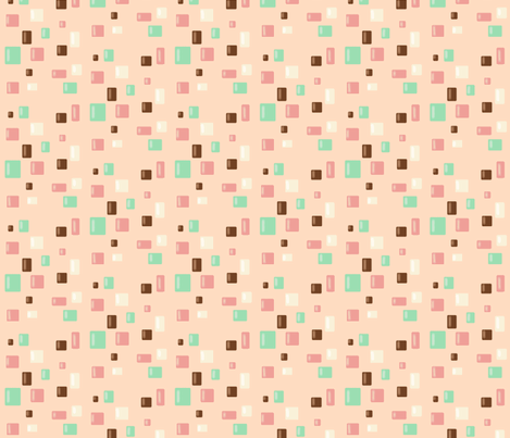 Candy Confetti on Pink Lemonade fabric by theresa_grzecki on Spoonflower - custom fabric