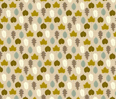 autumn_leaves fabric by kaeselotti on Spoonflower - custom fabric
