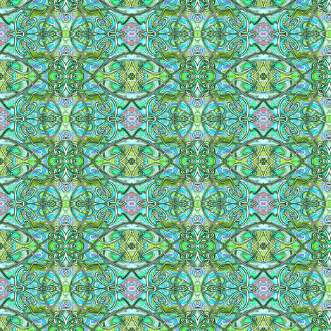 How Green Was My Planet? (textures via art nouveau) fabric by edsel2084 on Spoonflower - custom fabric