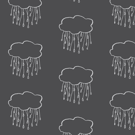 rain cloud charcoal fabric by gollybard on Spoonflower - custom fabric