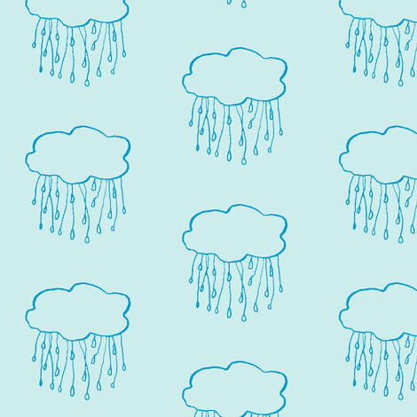 rain cloud sky fabric by gollybard on Spoonflower - custom fabric