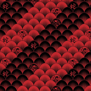 Snake scales - red/black