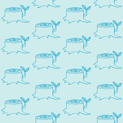 tree stumps sky fabric by gollybard on Spoonflower - custom fabric
