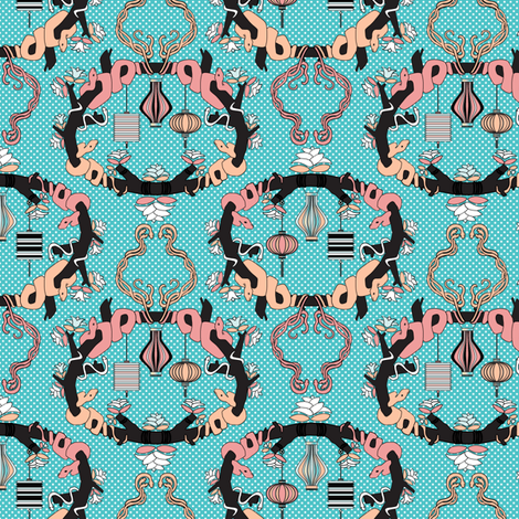 Chinese Lanterns Spring fabric by mag-o on Spoonflower - custom fabric