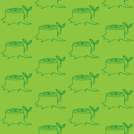 tree stumps grass fabric by gollybard on Spoonflower - custom fabric