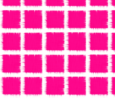 hot fuchsia ikat fabric by laurl on Spoonflower - custom fabric