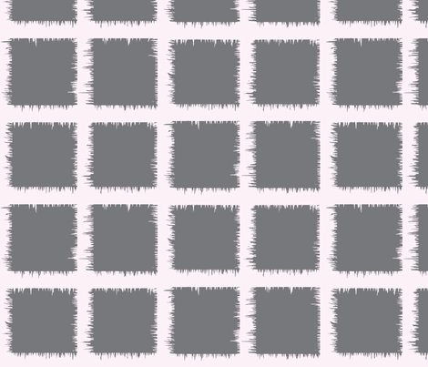 grey square ikat fabric by laurl on Spoonflower - custom fabric