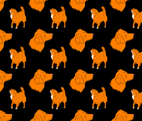 Nova scotia duck tolling retriever - black fabric by rusticcorgi on Spoonflower - custom fabric
