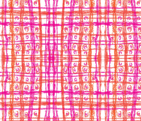 fuchsia_orange_plaid fabric by laurl on Spoonflower - custom fabric