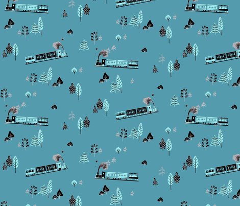 Trains fabric by lkvisualdesign on Spoonflower - custom fabric