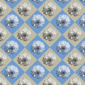 blue taupe diamond daisy