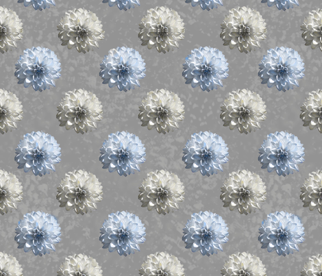 grey daisies fabric by laurl on Spoonflower - custom fabric