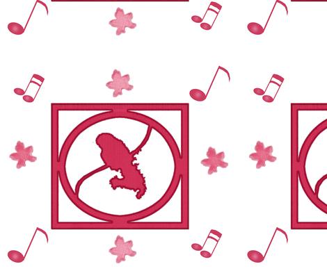 Madinina logo mizik pink fabric by dieezah on Spoonflower - custom fabric