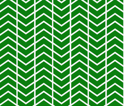 chevron stripe in Emerald fabric by ninaribena on Spoonflower - custom fabric