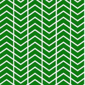 chevron stripe in Emerald