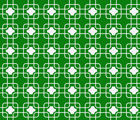 hollywood trellis Emerald fabric by ninaribena on Spoonflower - custom fabric
