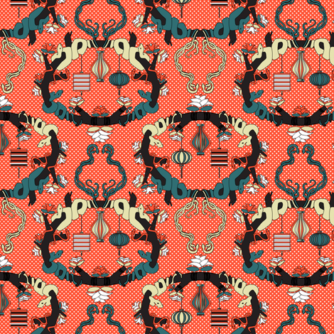 Chinese Lanterns Summer fabric by mag-o on Spoonflower - custom fabric