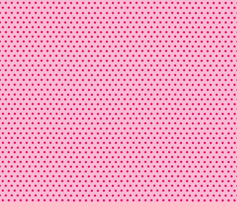 Polka Dots Pink fabric by curious_nook on Spoonflower - custom fabric