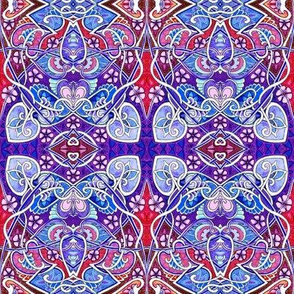 Red, White, and Blue Nouveau