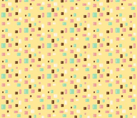 Candy Confetti on Buttercream fabric by theresa_grzecki on Spoonflower - custom fabric