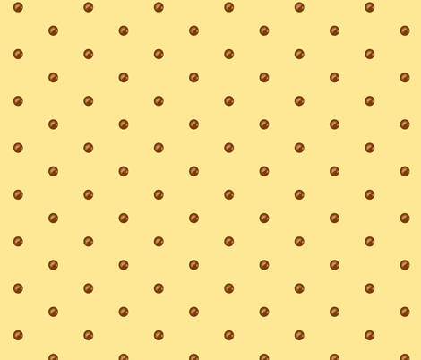 Chocolate drops on Buttercream fabric by theresa_grzecki on Spoonflower - custom fabric