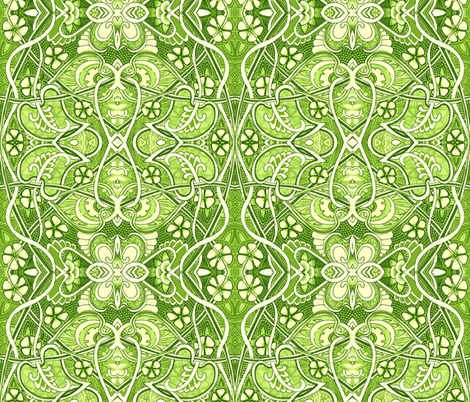 Retro Victorian Gardening fabric by edsel2084 on Spoonflower - custom fabric