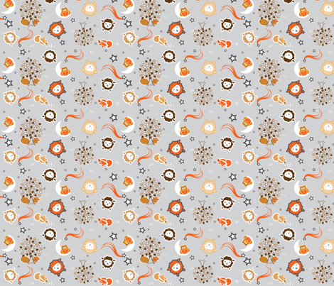 Sleepy Sheep Neutrals fabric by benoitdesigns on Spoonflower - custom fabric
