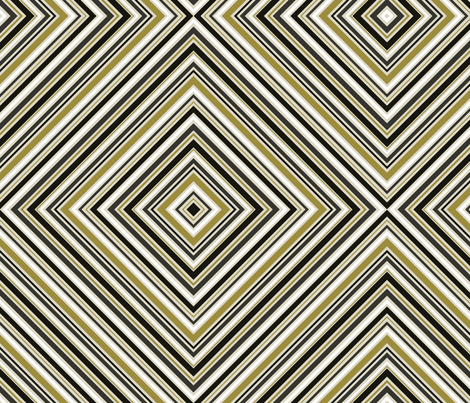 Golden Girl Diamond Large Print fabric by mag-o on Spoonflower - custom fabric