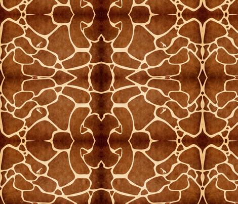 Giraffe maze fabric by nascustomwallcoverings on Spoonflower - custom fabric