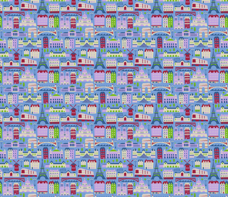 J'adore Paris fabric by acbeilke on Spoonflower - custom fabric