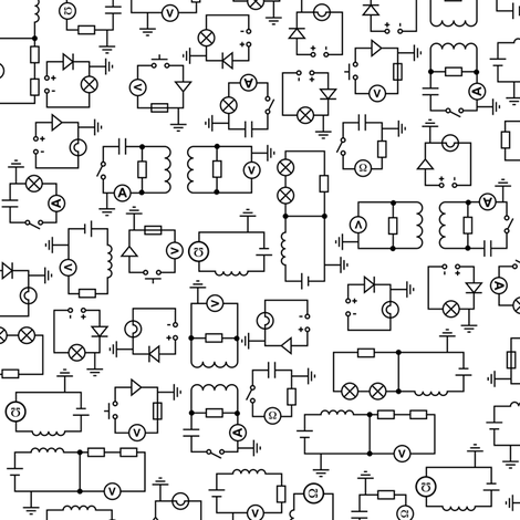 Electric Circuits fabric by robyriker on Spoonflower - custom fabric