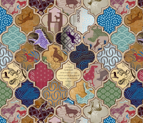 Arabian Horses fabric by motyka on Spoonflower - custom fabric