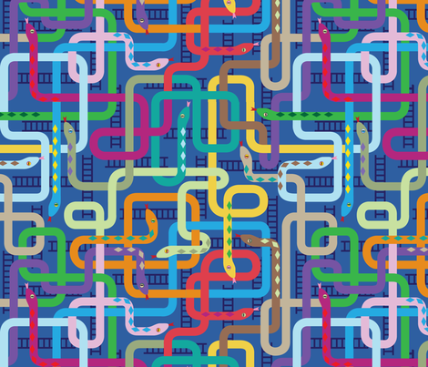 Snaking This Way and That fabric by sammyk on Spoonflower - custom fabric