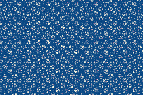 Floral on Blue fabric by chez_beccy on Spoonflower - custom fabric